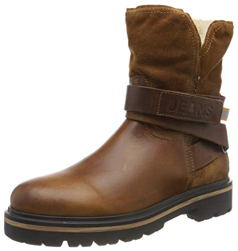 Tommy Hilfiger Damen Reflective Detail Biker Boot Stiefeletten, Braun (Winter Cognac Gvi), 38 EU