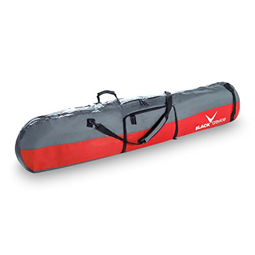 Black Crevice Snowboardbag (mit Schuhfach), rot/grau, 170 x 26 x 8 cm, 35 Liter, BCR151001