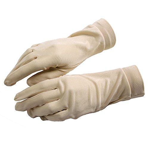 Q.KIM 100% Natürliche Seide Handschuhe Seidenstrick Silk glove Innenhandschuh Unterziehhandschuh Sonnenschutz Anti-Ultraviolett,Teint