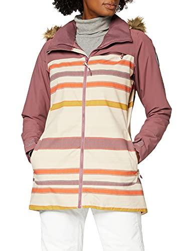Burton Damen Snowboard Jacke Lelah, Rose Brown/Creme Brulee Woven Stripe, XS, 20541102200