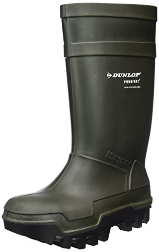 Dunlop Protective Footwear Purofort Thermo+ full safety Unisex-Erwachsene Gummistiefel, Grün 41 EU