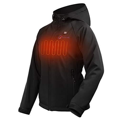 OUTCOOL Beheizte Jacke Damen Beheizbare Heizjacke mit Akku zum Outdoor Arbeiten und Tägliches Tragen (L)