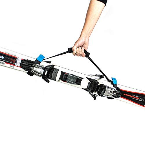 PROSKI - Premium Ski Tragegurt mit ergonomischen Handgriff & starkem Klettverschluss - Ski Gurt Strap aus reißfesten Materialien gefertigt - Robuste Skitasche Skibag zum leichten Transport von Ski