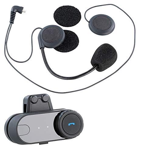 NavGear Motorrad Headset: Universal-Headset für Motorradhelme, mit Bluetooth (Helm Kopfhörer)