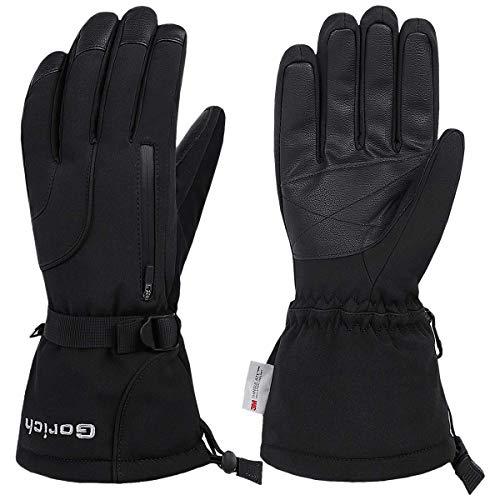 Gorich Skihandschuhe, wasserdicht, für Herren und Damen, Winter, warm, 3M Thinsulate, Schneemobil-Handschuhe