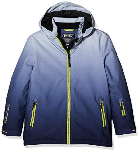 Killtec Jungen Pendaro Jr Skijacke/Funktionsjacke Mit Kapuze Und Schneefang, 10.000 Mm Wassersäule, Wasserdicht, grau, 152