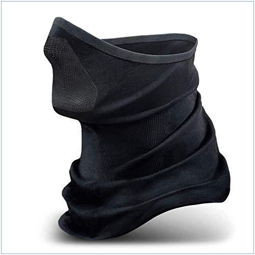 STANDWERK - Model X-Treme Sturmhaube schwarz - Atmungsaktive Sturmmaske - Klimaregulierende Skimaske - Balaclava mit hochwertigem Nylon-Netz - Perfekte Passform (L-XL)