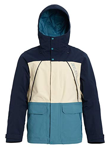 Burton Herren Breach Snowboard Jacke, Dress Blue/Almond Milk/Storm Blue, L