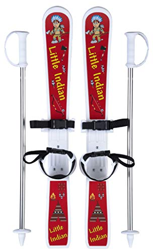 GPO Kinderski-Set Little Indian | Ski inkl. Stöcke und Riemenbindung für Kinder | Länge: 70 cm | perfekt für Anfänger zwischen 2 und 4 Jahren
