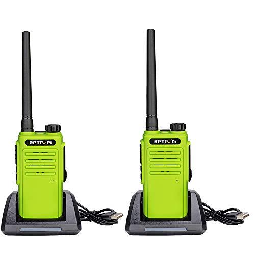 Retevis RT647 Wakie Talkie Wasserdicht, Lizenzfrei PMR446,16 Kanäle IP67 Walkie-Talkie Freisprecheinrichtung, Scan CTCSS/DCS Monitor 2-Wege-Radio für Ausflüge Strand-Surf-Ski (2 Stück, Grün)