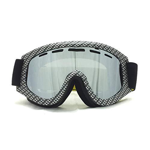 He-yanjing Skibrille, Double Anti-Fog-Brille, Coke Myopie Brille, Tag und Nacht Skibrille, männlich und weiblich im Freien Windschutzscheibe (Farbe : E)