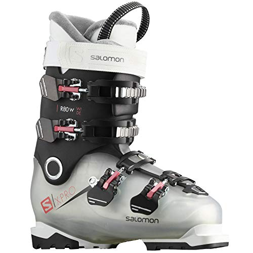 SALOMON Ski Schuhe X PRO R80 W Wide Cr/BLAC Größe 24/24,5 Crystal Translu./BLA