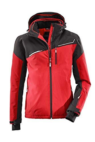 killtec Skijacke Herren Den - Snowboardjacke Herren mit Schneefang - wasserdichte Jacke mit Skipasstasche - atmungsaktiv, rot, M