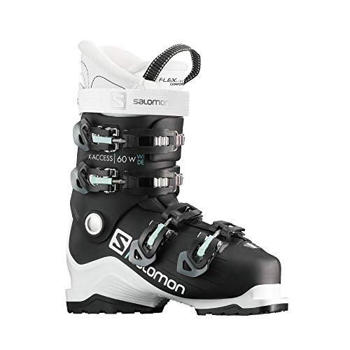 Salomon Damen Botas ALPINAS X Access 60 W Wide Ski-Stiefel, Black/W, 39.5 EU
