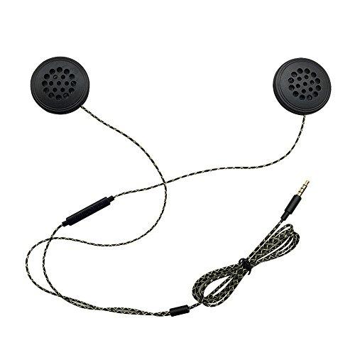Docooler Wired Kopfhörer Motorrad Intercom Helm Hochwertige 3,5 mm Musik Headset Freisprecheinrichtung mit HD-Mikrofon für Motorradfahrer