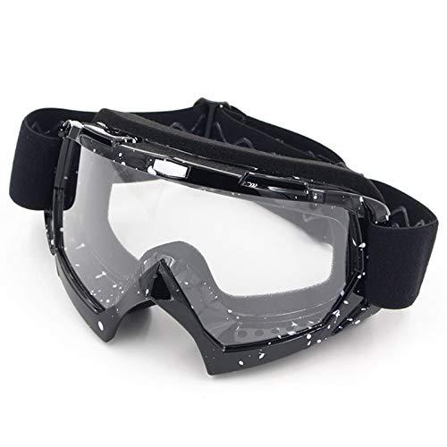 Bishilin Brille Motorrad Nacht Skibrille Brillenträger Arbeitsbrille Antibeschlag Schwarz Weiß Klar Schutzbrille