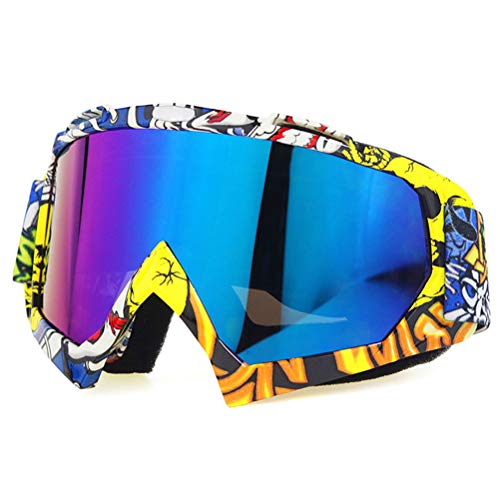 CaCaCook Skibrille, Winter Schneesport Snowboardbrille mit Anti-Fog UV-Schutz Winddichte Motocross Brille Brille für Männer Frauen Jugend Schneemobil Skifahren Skaten