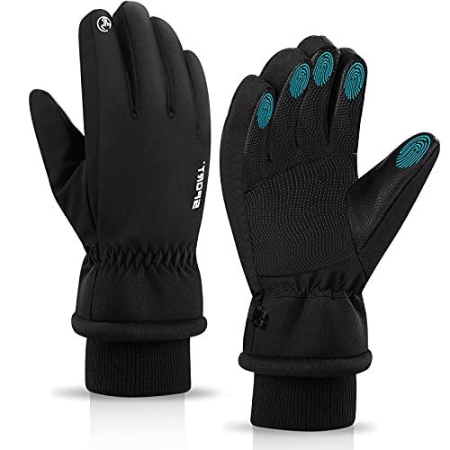 wasserdichte Warm Winterhandschuhe, 3M Herren Damen Warm Touchscreen Handschuhe Skihandschuhe Kältebeständig Thermische für Herren und Damen, Fahrradhandschuhe Unisex für Snowboarden, Motorrad