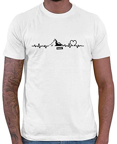 HARIZ Herren T-Shirt Snowboard Freestyle Winter Berge Mountain Plus Geschenkkarten Weiß XS