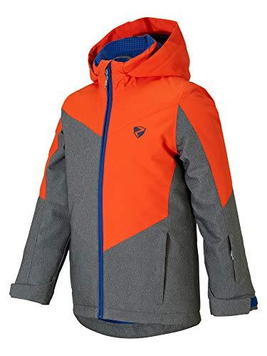 Ziener Jungen Avan jun (Jacket ski) Kinder Skijacke, Winterjacke/Wasserdicht, Winddicht, Warm, Grey stru, 104