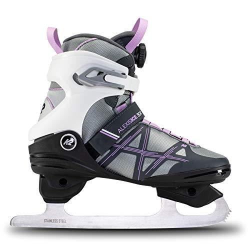K2 Skates Damen Schlittschuhe Alexis Ice Boa Fb — White - Purple — EU: 35 (UK: 2.5 / US: 5) — 25E0060