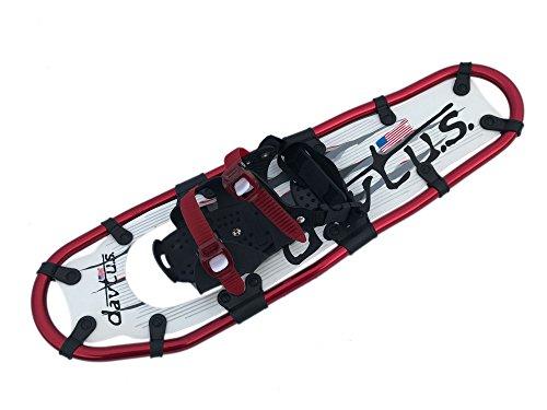 davtus Alu Schneeschuhe zum Bergwandern + Rucksack Snowshoes (Rot, L)