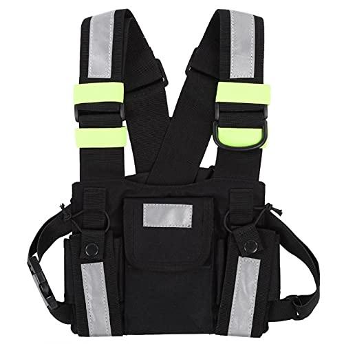 Jopwkuin Brustgurt Front Pack, Modisch für Ski Patrol und Bergrettung Walkie-Talkie Weste zum Wandern zum Radfahren