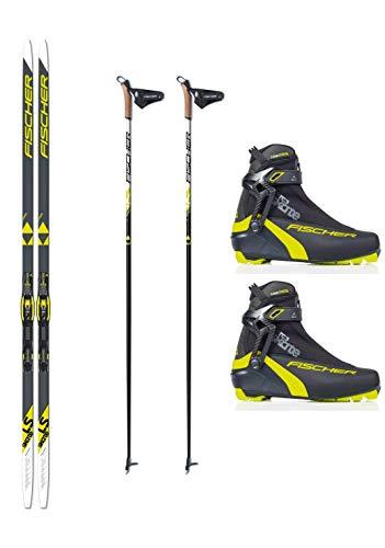 Fischer Langlaufski-Set LS Skate Skating Skier + Bindung + Schuhe + Stöcke (186)