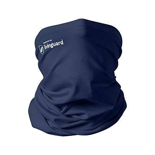 Livinguard TUBE MASK LITE |Schlauchschal Winter Halstuch für Laufen Radsport Herren Damen Multifunktionstuch Halswärmer Warm Fleece Winddicht Ski Nackenwärmer Fussball Schwarz|Bombay Blue, Men