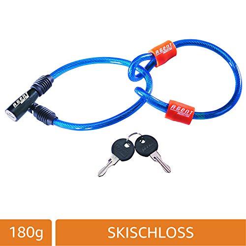 SKISCHLOSS Agent, klassisch, mit 2 Schlüssel, 180g, Farbe: ROT