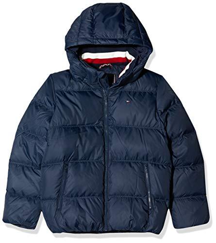 Tommy Hilfiger Jungen Essentials DOWN Jacket Jacke, Blau (Blue 002), 176 (Herstellergröße:16)