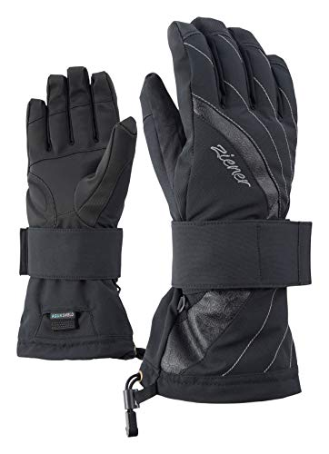 Ziener Damen Milana As(r) Lady Glove Sb Snowboard-handschuhe, black, M