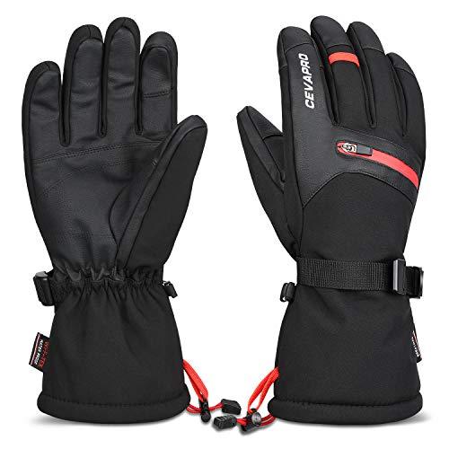 Yobenki Winterhandschuhe Skihandschuhe wasserdichte Touchscreen Handschuhe Fahrradhandschuhe Warm 3M Thinsulate Handschuhe für Ski Radfahren Motorradfahren Snowboarden -34℃/-30℉