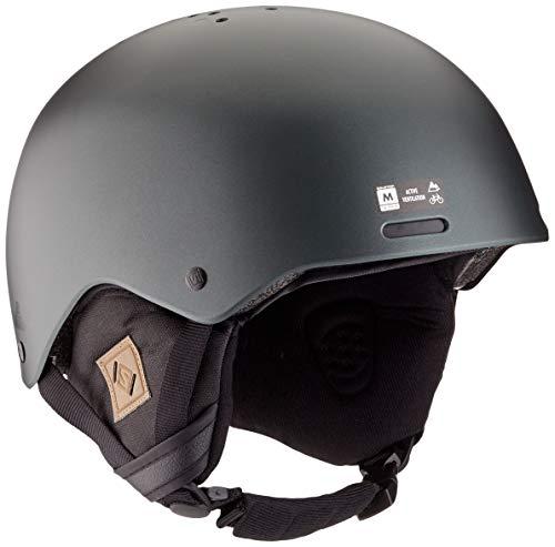 Salomon Herren Ski- und Snowboardhelm mit Audiosystem, ABS-Schale, SMART-Technologie, Größe L, Kopfumfang 59-62 cm, Brigade+ Audio, grun (Green Gables), L40836400