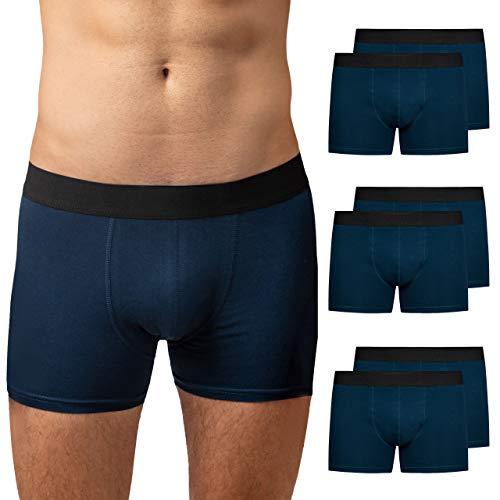 Snocks Boxershorts Herren Blau(ohne Logo) Größe XXL 6 Paar Unterhosen Männer XX-Large Herren Unterhosen Herren Boxershorts Baumwolle Unterwäsche