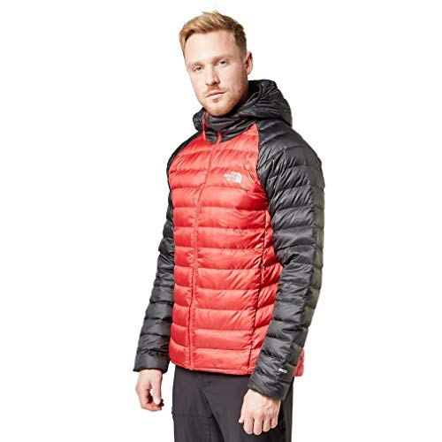 THE NORTH FACE Herren Insulated Down M Trevail Hoodie, Tnf Red/Tnf Bla, L, 39N4