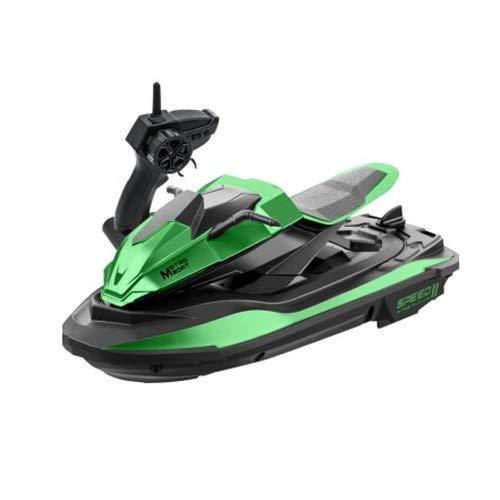 Lihgfw Spielzeug-Fernbedienung Boot Yacht-Ski-Ski-Fernbedienung Geschwindigkeit Boot Modell 2,4g Fernbedienung Boot Spielzeug Jungen Mädchen Geschenk Green 23cm (Color : Grün)