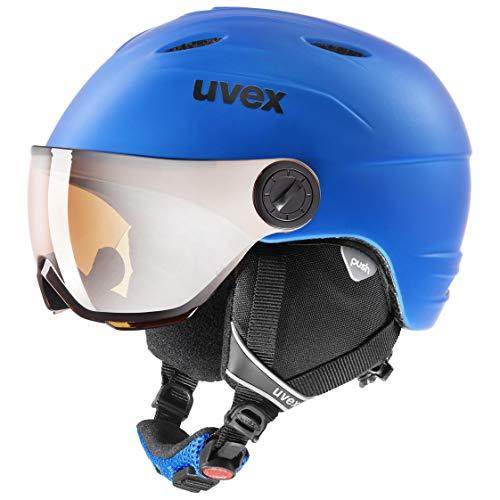uvex Unisex Jugend, junior visor pro Skihelm, blue, 52-54 cm