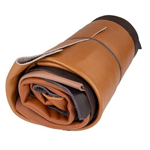 Langlauf Schuhbedarf Lederstücke Extragroß 1kg Brauntöne - Alle Stücke mindestens DIN A3 groß - Jetzt mit Gratis Anleitung Ledertasche!
