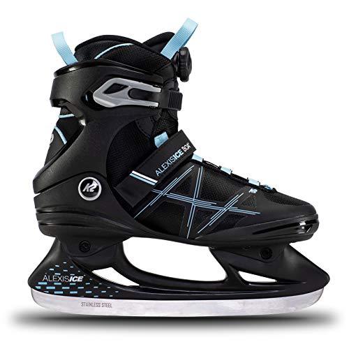 K2 Skates Damen Schlittschuhe Alexis Ice Boa, Black/Blue, UK: 4