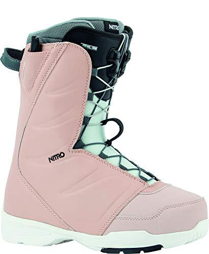 Nitro Snowboards Damen FLORA TLS '20 All Mountain Freestyle Schnellschnürsystem günstig Boot Snowboardboot, 25.5, ROSE