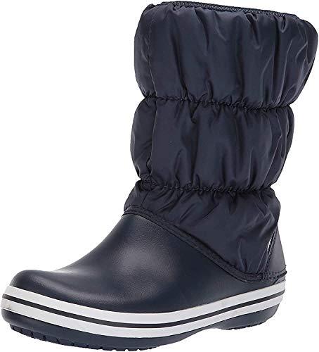 Crocs Damen Winter Puff Boots Schneestiefel, Blau (Navy/White), 39/40 EU