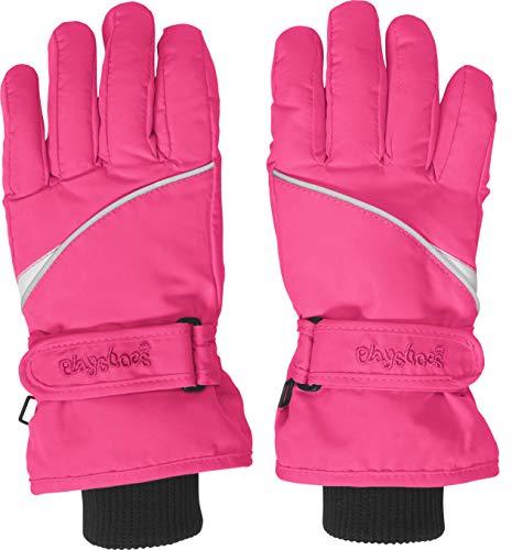 Playshoes Kinder-Unisex Skihandschuhe Thinsulate Fingerhandschuhe mit Klettverschluss, Rosa, 5
