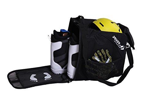 Driver13 Stiefeltasche mit Helmfach für Hart/Softboots/Inliner schwarz AR-10019