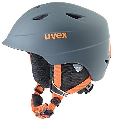 Uvex Kinder Airwing 2 Pro Skihelm, titanium-orange mat, 54-58 cm