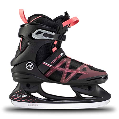 K2 Skates Damen Schlittschuhe Alexis Ice Pro — Black - Rose — EU: 36 (UK: 3.5 / US: 6) — 25E0031