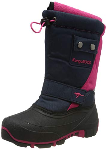 KangaROOS Kanga-Bean II Unisex-Kinder Stiefel, Blau (Dark Navy/Daisy Pink 4204), 36 EU