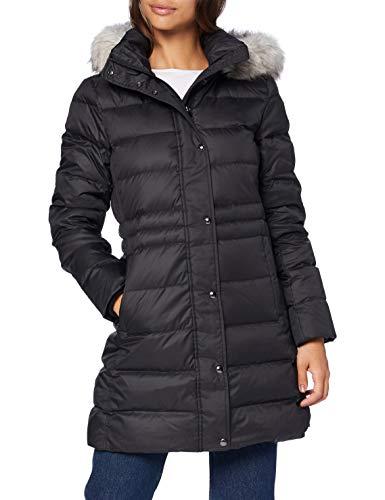 Tommy Hilfiger Damen Th ESS Tyra Down Coat with Fur Jacke, Schwarz, XS