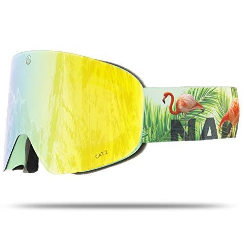 NAKED Optics Troop EVO Flamingo (Yellow Lens), inkl. Schlechtwetterglas
