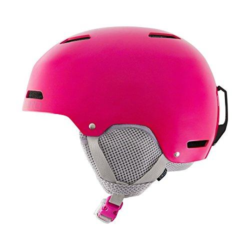Giro Snowboardhelm Crüe Skijacke Mädchen, Pink/Grau, Größe S